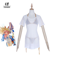 ROLECOS Tamamo no Mae Cosplay Swimsuit Game Fate Grand Order Swimwear Costume Japanese Anime Fate Extra Cosplay Costumes Party