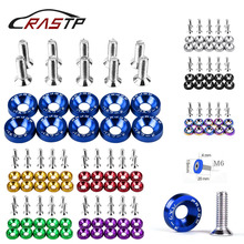 RASTP-10Pcs Universal Car Styling Modifications JDM Fender Washer Bumper Plate M6 Bolts Auto Accessories for Honda RS-QRF002