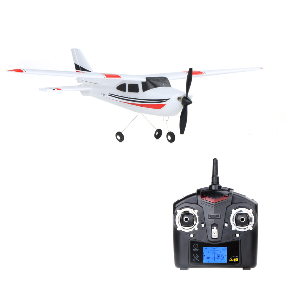 Original Wltoys F949 <font><b>RC</b></font> Airplane <font><b>Cessna</b></font>-<font><b>182</b></font> 2.4G 3Ch Fixed Wing Drone <font><b>Plane</b></font> Control Toys Airplane Aircraft Quadcopter image