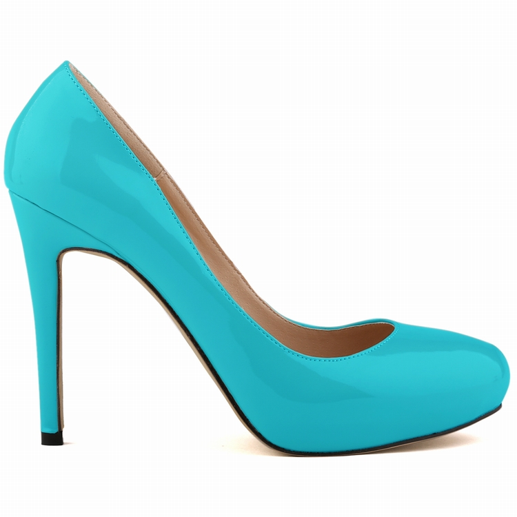 2016 Women'S Fashion Solid Candy Color Pumps Female Casual Round Toe Pu Thin Heels Shoes SMYNLK-FA0108
