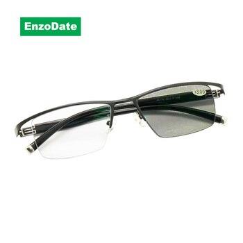 전환 포토 크로 믹 프로그레시브 멀티 포커스 독서 용 안경 varifocal no line 점진적 렌즈 + rx farsighted from 0 to + 400
