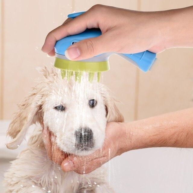 Pet Shower Head Handheld 3 In 1 Pet Massage Bath Brush Dog Cats