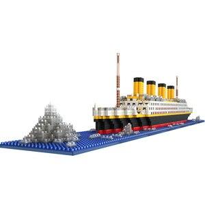 Image 4 - タイタニック船モデルビルディングブロックレンガのおもちゃ 1860 個ミニタイタン 3D キット Diy ボート教育コレクション子供のための男の子