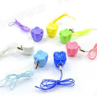 Free Shipping Deciduous Boxes Tooth Shape With A Rope Can Be Hung On The Neck Storage