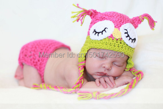 Handmade Knitted Toddler Animal Cap Pattern Lovely Children Owl Hat newborn  photography props eeee787e965