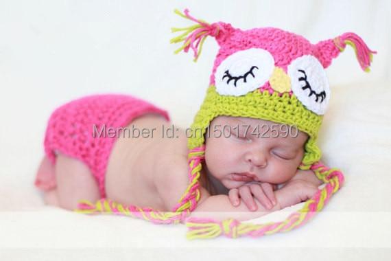 Handmade Knitted Toddler Animal Cap Pattern Lovely Children Owl Hat