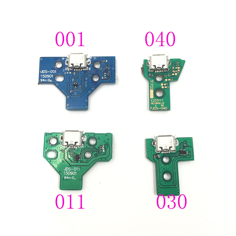 20PCS For PS4 Controller USB Charging Port Socket JDS 055 040 030 011 001 Circuit Board 12 pin 14Pin