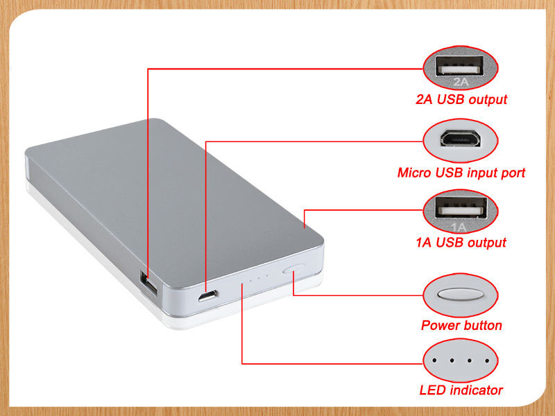 10000mah Portable Rohs Power Bank Mobile Ultra Slim Manual For Power