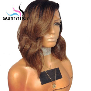 Image 4 - Парики из человеческих волос на сетке, 13 х4 дюймов, 150% 1b/коричневые, с эффектом омбре