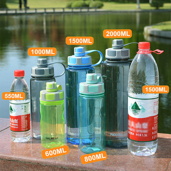 2000ml Large Capacity Water Bottles Portable Outdoor Plastic Sports Bottle With Tea Infuser Fitness Leak-proof Shaker Bottles 6