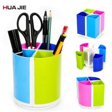 купить Creative Detachable Pen Pencil Holder Desktop Storage Box Colorful Pen Holder Student Stationery Office Organizer Supplies H369 по цене 429.85 рублей