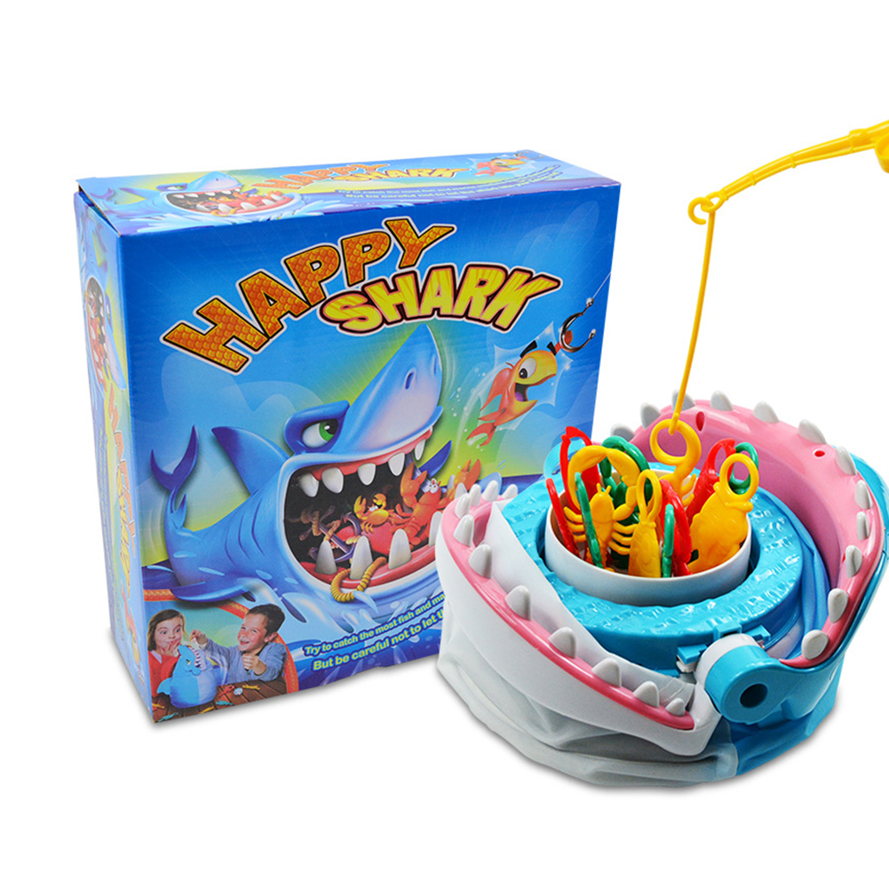 New Sharks Trap Board Desktop Game Fishing Children Funny Family Trick Fish Novelty Toys For Kids Chilren Day Funny Gift 2019