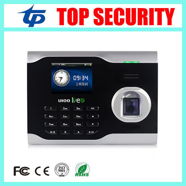 Good quality TCP/IP linux system biometric fingerprint time attendance time clock employee attending control U100 finger clock good quality zk biometric face and fingerprint time attendance tcp ip wifi face time clock with keypad employee time attendance