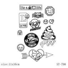 AZSG Cartoon character Clear Stamps/Silicone Transparent Seals for DIY scrapbooking Card Making