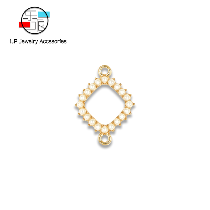 Double Circle DIY Earrings Making Handmade Pearl Connectors Accessories Fashion Charms Trendy Korean Jewelry Findings 10pcs/lo