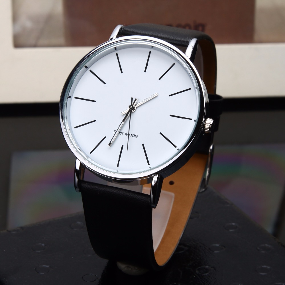 Men's Watch Top Brand Luxury Minimalist Wristwatch Leather Strap Analog Quartz Casual Clock Sports Ceasuri Erkek Kol Saati