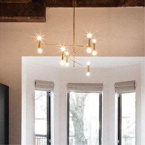 Image 4 - Nordic Creative Concise Individuality Art Iron Pendant Light Cafe Restaurant Decoration Hanging Lamp Free Shipping