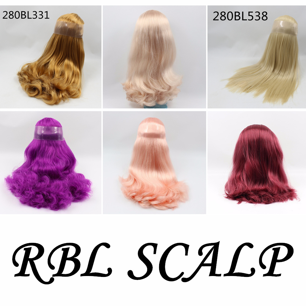 RBL Blyth Doll Scalp Wig dome hair for icy blyth doll with or without bangs лак для ногтей deborah lippmann nail color crème she drives me crazy цвет she drives me crazy variant hex name 237e6c