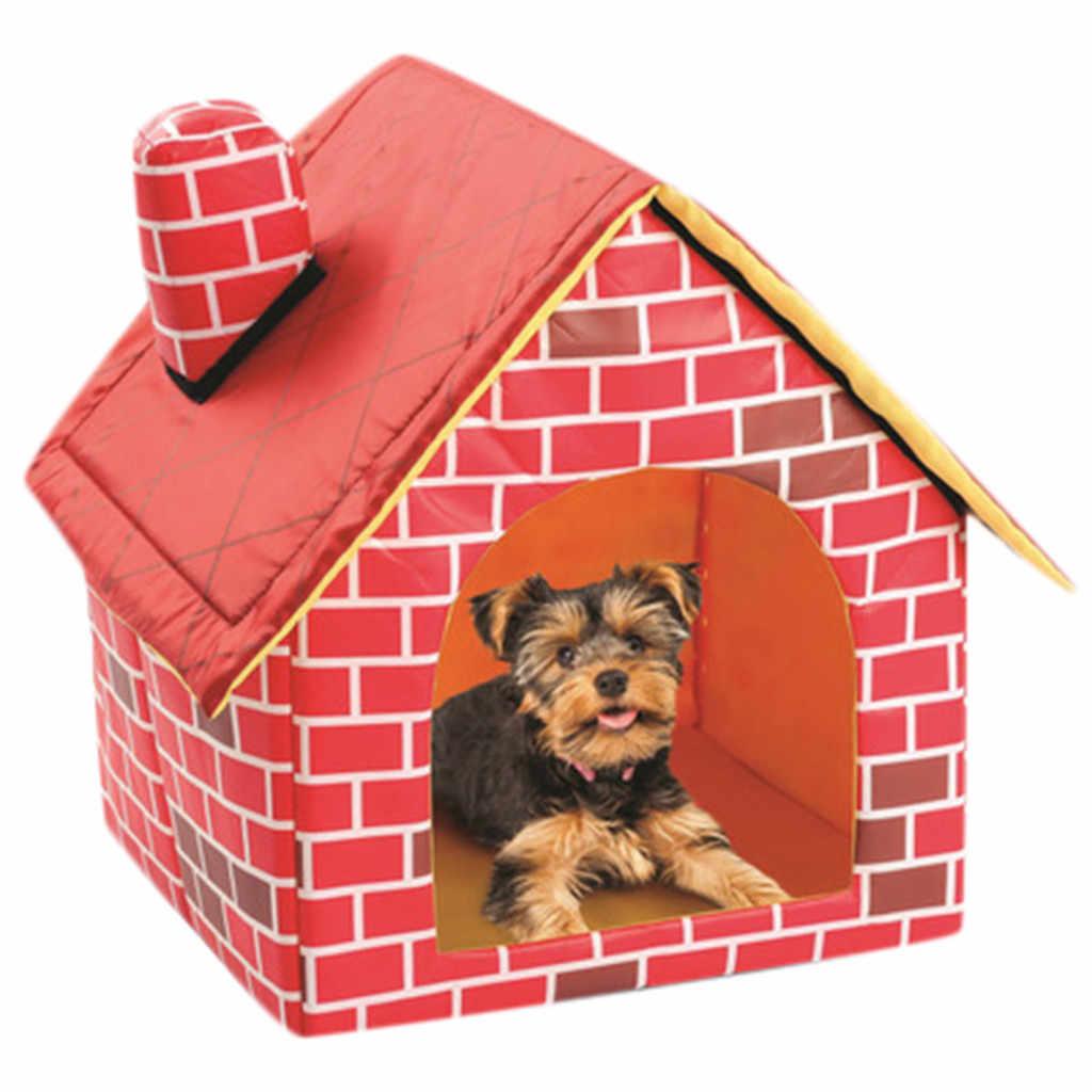Katlanabilir köpek evi Pet yatak çadır kedi köpek kulübesi kapalı taşınabilir seyahat köpek Mat açık kulübesi çit evcil hayvan ürünleri mascotas casa
