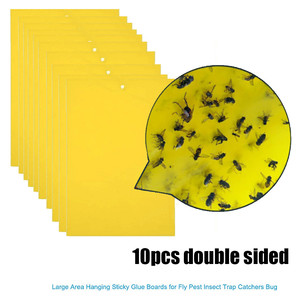 Image 2 - 10Pcs Strong Flies Traps Bugs Sticky Board Catching Aphid Insects Pest Killer  convenient and  practical Household HOT Sale