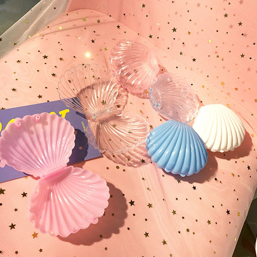 1PC Creative Transparent Seashell Shape Earrings Necklace Packaging Storage Gift Jewelry Box For Women Jewelry Box