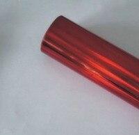 Горячее тиснение фольга красный простой узор Голографическая фольга горячей пресс на бумаге или пластик 64 см x 120 м тепла штамповочная пленк