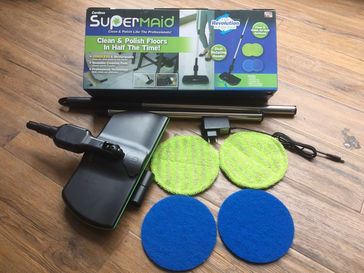 New Spin Maid Electric Mop Wireless Rotary Mop Rechargeable Sweeper Artifact
