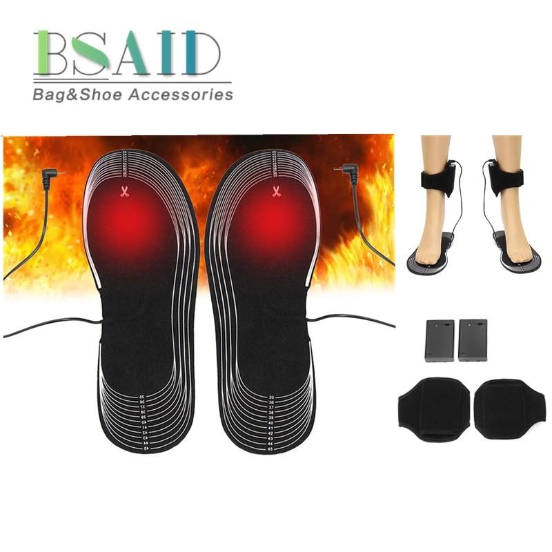 BSAID AA Batterie Powered Elektrische Beheizte Einlegesohle Fuß Wärmer, männer Frauen Leichte Heizung Pads für Outdoor Sport 4,5 v SIZE36-46
