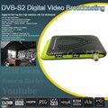 Tamanho Mini 1080 P Apoio Receptor de Satélite Digital DVB-S2 Dual USB IKS wi-fi Vu Poder Biss Cccam Newcam Youtube Set Top caixa