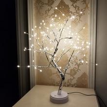 108 светодиодный светильник с USB огненным деревом, настольные лампы из медной проволоки, ночной Светильник для дома, спальни, свадьбы, вечеринки, бара, Рождественское украшение
