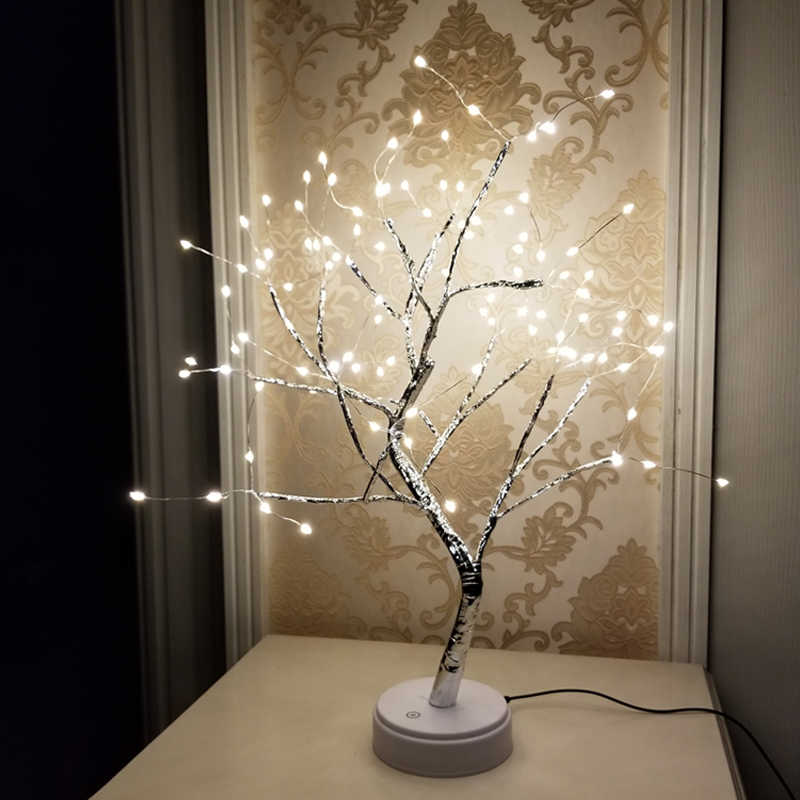 108 LED USB Fire Tree Light Copper wire Table Lamps Night light for Home  Indoor Bedroom Wedding Party Bar Christmas Decoration| | - AliExpress