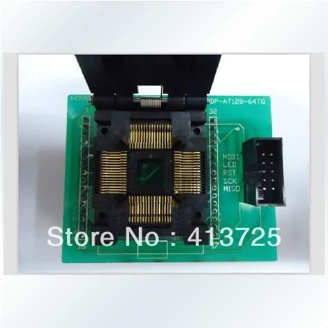 Import block TQFP64 burn IC test SDP-AT128-64TQ test, RF/LT48 General import block qfn44 adapter test burn ic qfn 44bt 0 65 01 programming