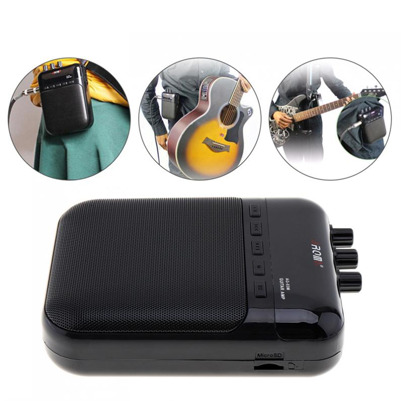 Portable 5W Compact Guitar Amp Recorder Speaker Multifunction Guitar Amplifier Support Microphone Input and Recording Function