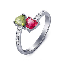 Huitan New Trendy Women Ring With Personality Two-Tone CZ Design Party Micro Paved Christmas Year Gift Wholesale