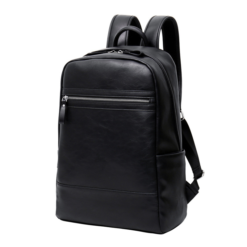 Men Backpack Leather Male Bag Fashion Casual Luxury Designer Laptop Bag Large Capacity Travel Men's Bags School Bag For College