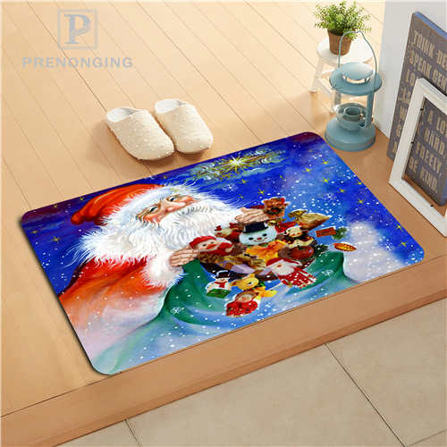 Custom Merry Christmas Doormat Print slip-resistant Mats Floor Bedroom Living Room Rugs 40x60cm 50x80cm Free Shipping 171128-32