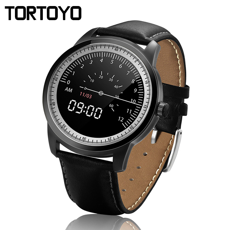 DM365 Luxury Sports Business Bluetooth Smart Watch Smartwatch Round Leather Strap Pedometer Sleep Monitor for iPhone IOS&android full hd ips screen smartwatch dm365 luxury bluetooth smart watch wristwatch for iphone samsung s4 note 2 3 huawei sony xiaomi