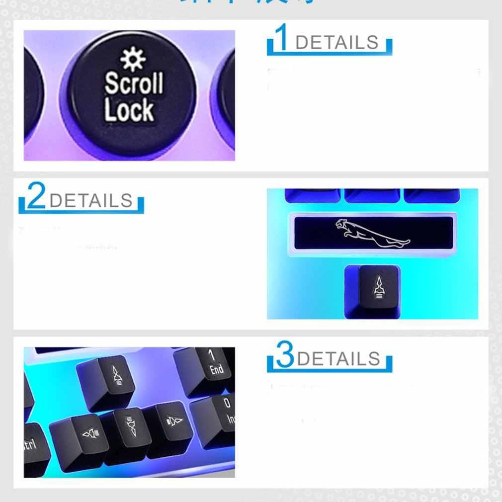 G21 USB Wired Mekanis Punk Keyboard Colorful Backlight Gaming Keyboard Tahan Air untuk Komputer PC Gamer