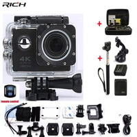 4K Action Camera Original F60 F60R Remote WiFi 2 0 LCD 170D Len Helmet Cam Underwater