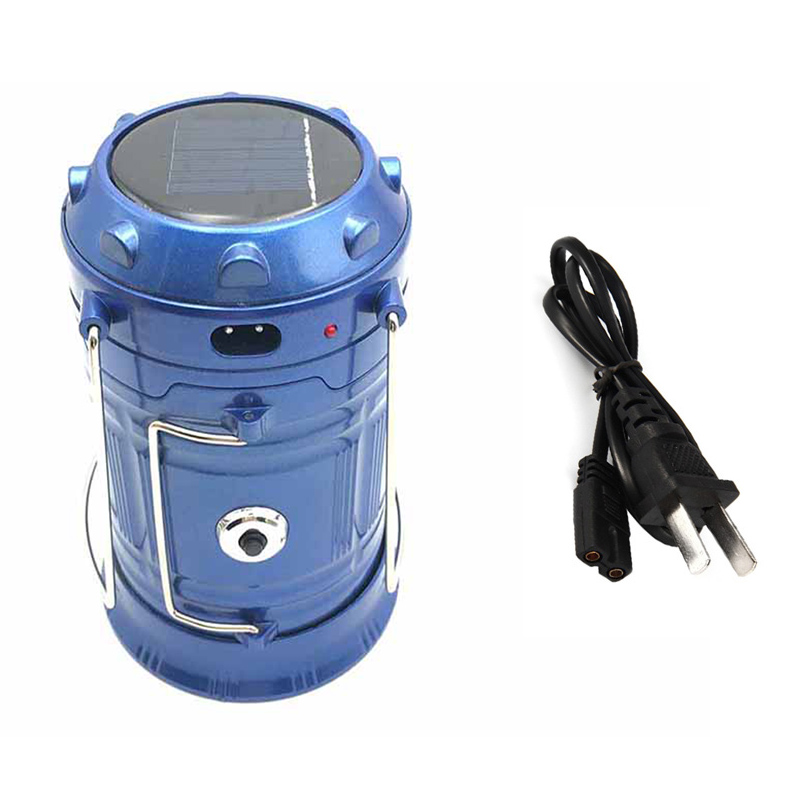 Rechargeable Camping Light 6 LEDs Solar Camping Lantern Tent Lights for Outdoor Camping Flashlights