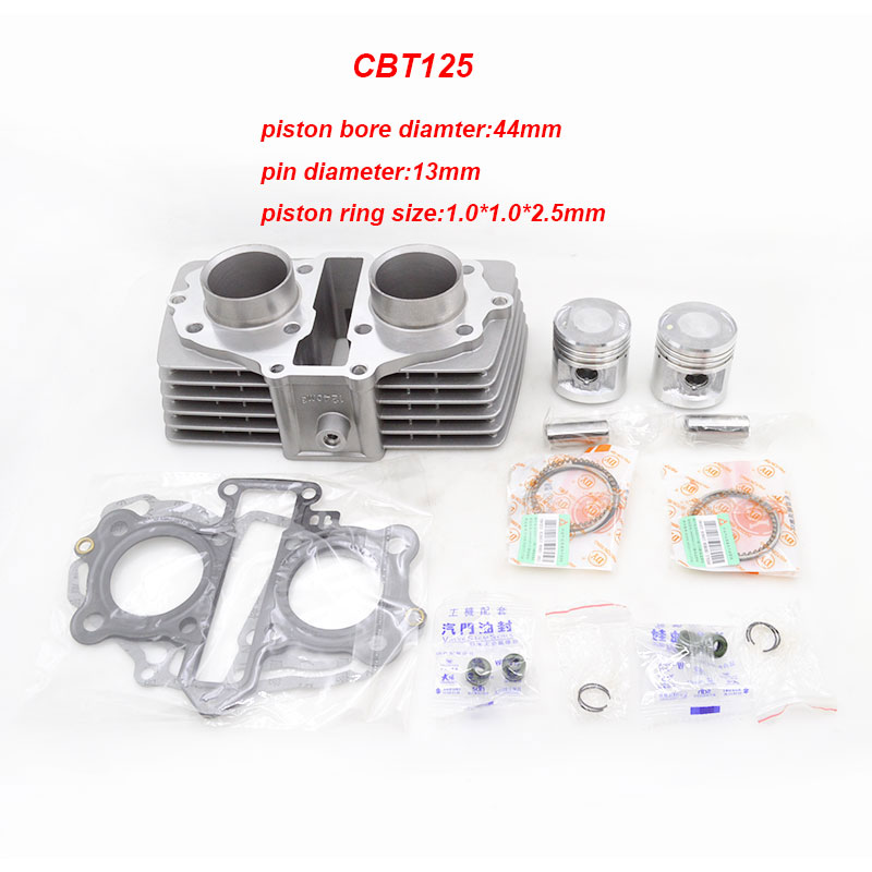 High Quality Motorcycle Cylinder Kit For Honda CBT125 CM125 Qianjiang QJ125 Upgrade to CBT150 Modified Engine Spare Parts 125cc cbt125 carburetor motorcycle pd26jb cb125t cb250 twin cylinder accessories free shipping