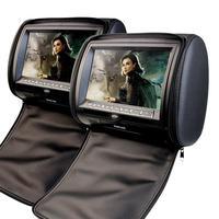 EinCar Черный 2 X Twin подголовник автомобиля dvd плеер 9 дюймов HD Touch ключ с FM 32 бита игры MP3 пара мониторов двойной Экран Pill
