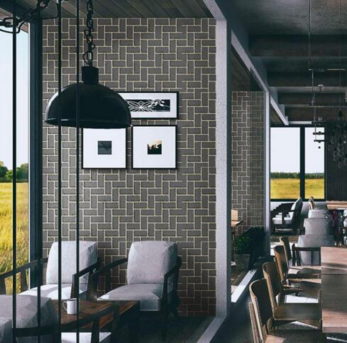 Купить с кэшбэком Creative 3D Wall Wallpaper For Living Room Mural Poster Self-adhesive Thicker Stone Wall Sticker For Kitchen Bathroom Home Decor