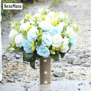 Image 3 - SexeMara 2019 ใหม่แต่งงานเจ้าสาวโรแมนติก Wedding Bouquet เจ้าสาวอุปกรณ์เสริม