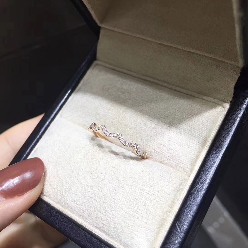 ANI 18K Rose Gold (AU750) Women Wedding Ring Certified I/SI Real Natural Diamond Elegant Fine Engagement Jewelry Wedding Band new pure au750 rose gold love ring lucky cute letter ring 1 13 1 23g hot sale