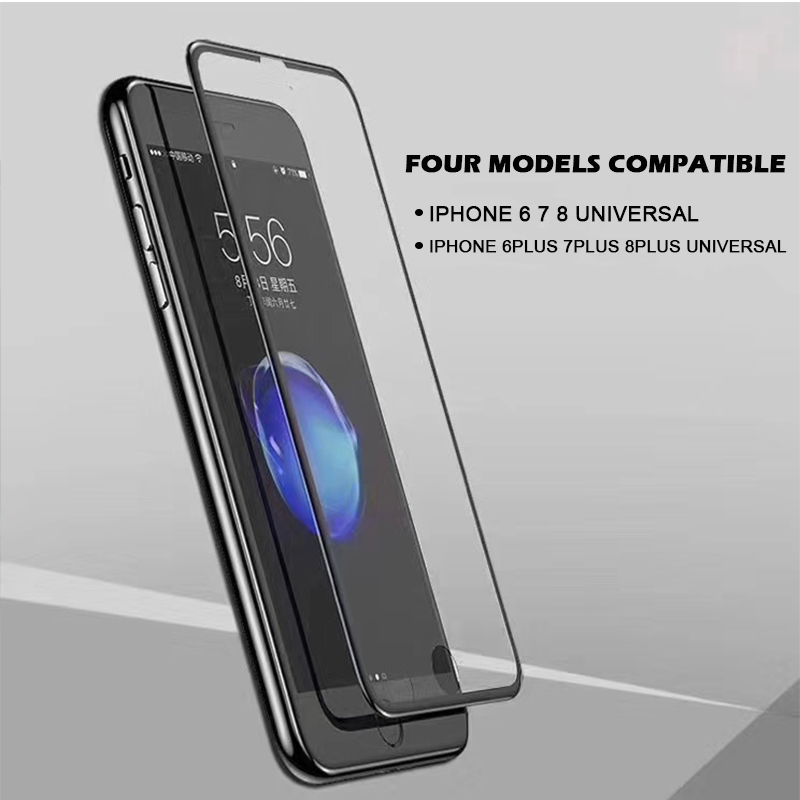kuge high quality 9h 6d tempered glass for iphone 8 7 6 plus screen protector glass for. Black Bedroom Furniture Sets. Home Design Ideas