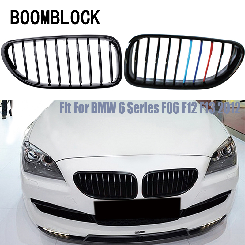 Car Kidney Front Bumper Racing Grills For BMW 6 Series F06 F12 F13 2018 2017-2012 M6 Style 640i 650i 640D Motorsport Accessories image