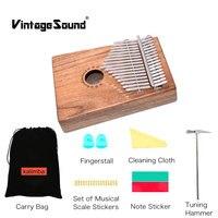 Kalimba 17 Keys Marimba African Thumb Piano Mbira Finger Piano Percussion Keyboard Music Instruments Kids Solid Wood Sanza zanzu