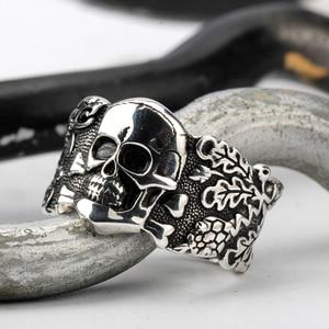 Image 3 - Skull Ring for Men 925 Sterling Silver Skeleton Walking Evil Demon Vintage Punk Rock Cool Skull Ring for Men Fashion Jewelry