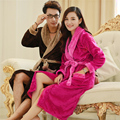 Flannel Couples Ladies Ladies Men Pajamas Autumn and winter coral velvet thickening of long paragraph Lovely bathrobe robes